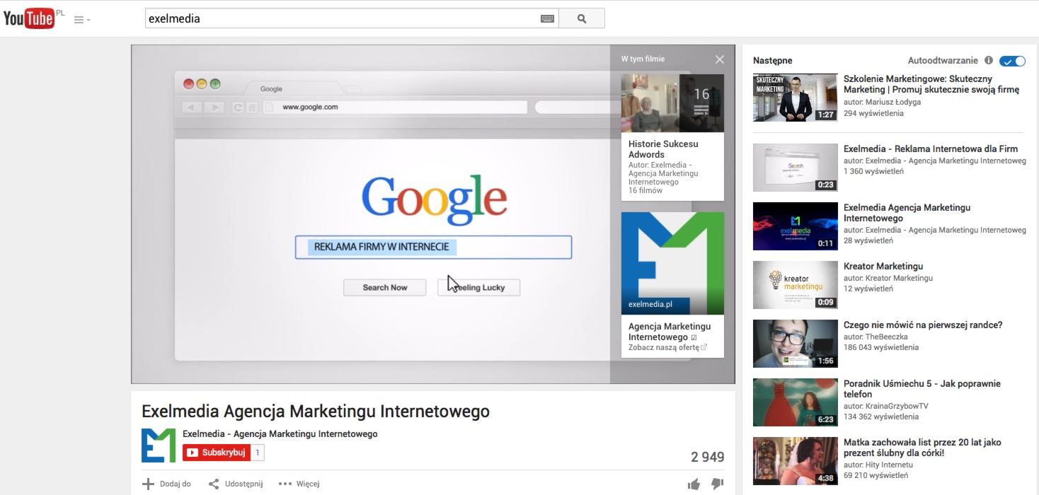 Reklama na YouTube - AdWords