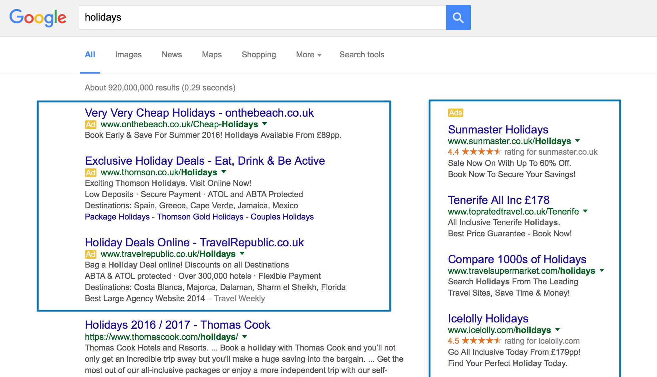Reklama w sieci wyszukiwania AdWords
