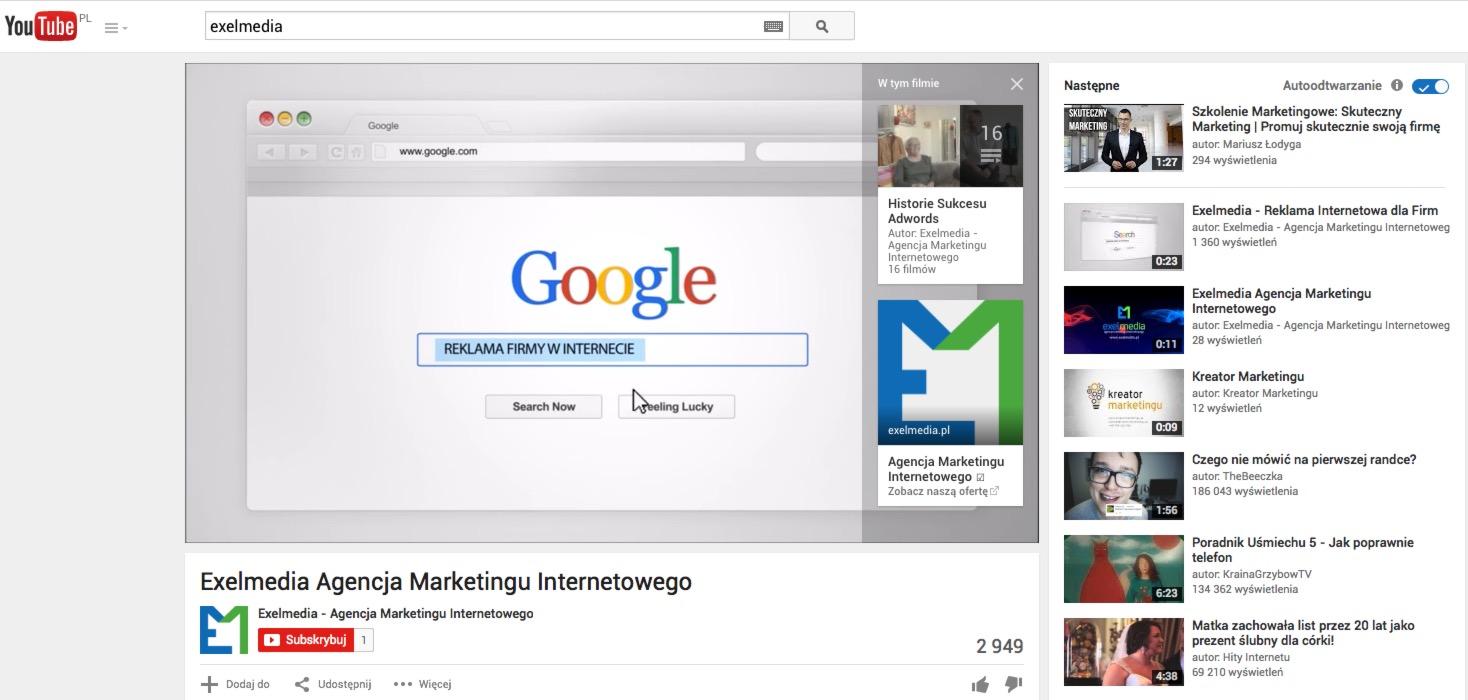Reklama na YouTube - AdWords