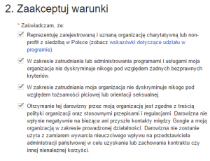 Google Ad Grants dla Fundacji i Stowarzyszeń