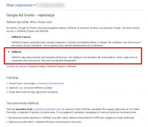 Zakładanie konta Google Ad Grants dla Organizacji Pozarządowych